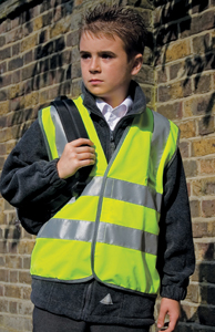 Kinder vest Result high-viz