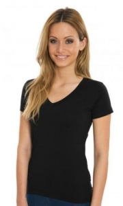 Dames T-shirt Nakedshirt V-neck 120.85
