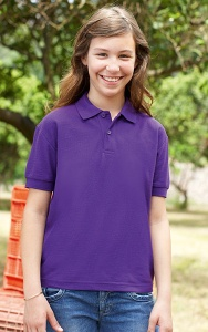Kinder Polo Fruit Of The Loom Kids Polo pol/kat