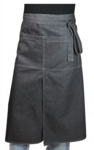 Kokssloof Chaud Devant Apron 4-Pockets Black Denim