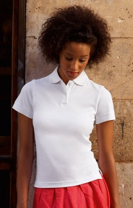Dames Polo Fruit Of The Loom Ladies Fitted