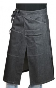 Kokssloof Chaud Devant Apron Chap Black Denim