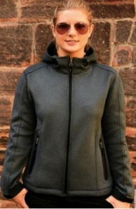 Damesjas SG knitted bonded softshell