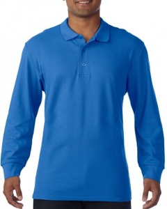 Herenpolo Gildan Premium Cotton Double Pique LS