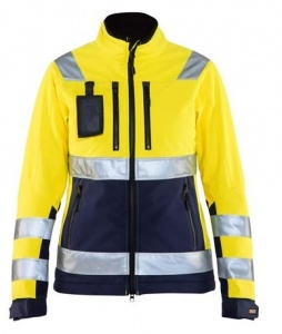 Dames Jas Blaklader High-Vis Softshell