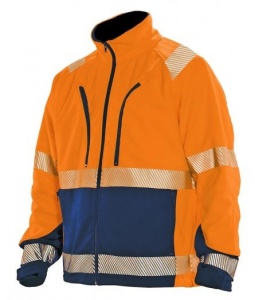 Fleecejas Jobman 1243-69 High visibility