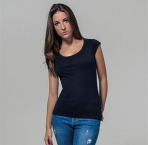 Build Your Brand Women's Back Cut Tee