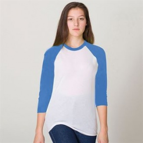 Raglan Shirt American Apparel 3/4 Sleeve