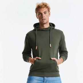 Hooded Sweater Russell Pure Organic High Collar