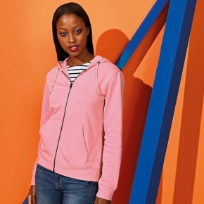Dames Hoodie Asquith & Fox Zipped Organic