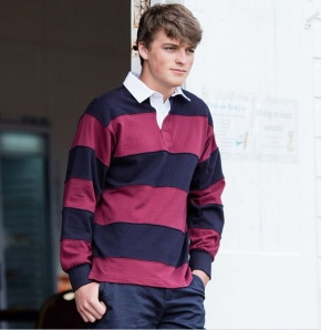 Heren Polosweater Front Row Rugby Strepen FR08M