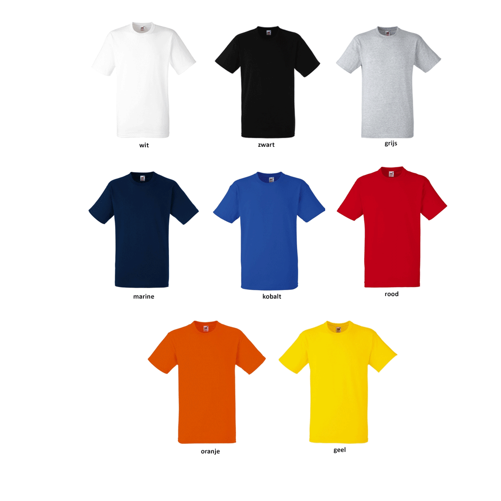 10 Fruit of the Loom Tshirts voor 18 euro